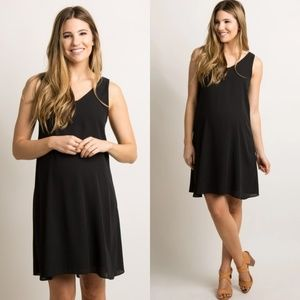 Pinkblush Maternity Black Sleeveless Shift Dress